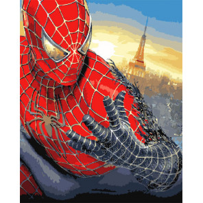 Сложность и количество цветов Человек-паук Раскраска картина по номерам на холсте GX31428