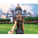 Следуй за мной. Санкт-Петербург Раскраска картина по номерам на холсте GX31545