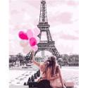 Однажды в Париже Раскраска картина по номерам на холсте GX31791