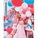 Следуй за мной.Весенний Париж Раскраска картина по номерам на холсте GX31920