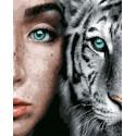 Синева глаз Раскраска картина по номерам на холсте GX31989