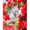 Окно в Париж Раскраска картина по номерам на холсте GX32312