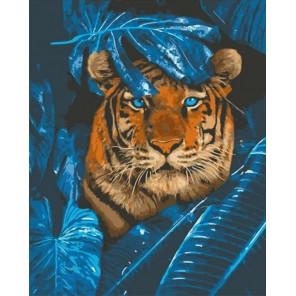 Сложность и количество цветов Загадочный тигр Раскраска картина по номерам на холсте GX32512