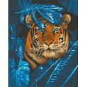 Загадочный тигр Раскраска картина по номерам на холсте GX32512