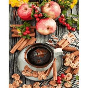 Сложность и количество цветов Кофе и корица Раскраска картина по номерам на холсте GX32719