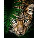 Взгляд хищника Раскраска картина по номерам на холсте GX32767