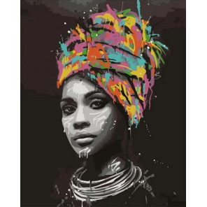 Сложность и количество цветов В африканском стиле Раскраска картина по номерам на холсте GX34540