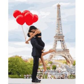 Париж - город для тех, кто влюблен… Раскраска картина по номерам на холсте GX34599