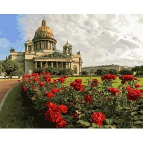 Дорожкой красных роз Раскраска картина по номерам на холсте GX34898