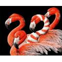 Красный фламинго Раскраска картина по номерам на холсте GX35710