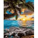 Закат на Гавайях Раскраска картина по номерам на холсте GX35719