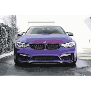Холст с палитрой цветов BMW Раскраска картина по номерам на холсте с флуоресцентными красками AAAA-M001