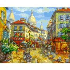 Сложность и количество цветов Париж. Монмантр Раскраска картина по номерам на холсте 262-AB