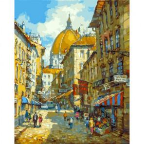 Сложность и количество цветов Прогулка по Флоренции Раскраска картина по номерам на холсте 263-AB