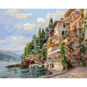 Сложность и количество цветов Лето в Италии Раскраска картина по номерам на холсте 267-AB