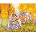 Время двоих: ноябрь Раскраска картина по номерам на холсте PK59007