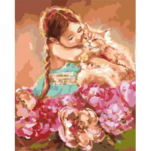 Мой милый рыжик Раскраска картина по номерам на холсте PK59003