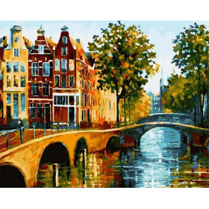 Осенний мостик Раскраска картина по номерам на холсте GX27510