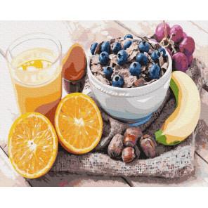 Фруктовый завтрак Раскраска картина по номерам на холсте ZX 23810