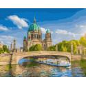 Речной пароход Раскраска картина по номерам на холсте ZX 23598