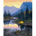 Огонек в болотах Раскраска картина по номерам на холсте ZX 23886