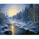 Рассвет на реке Раскраска картина по номерам на холсте ZX 23573