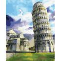 Пизанский собор Раскраска картина по номерам на холсте ZX 23834