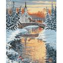 Церковь на реке Раскраска картина по номерам на холсте ZX 23575