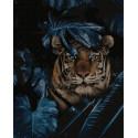 Тигр в лесу Раскраска картина по номерам на холсте ZX 23873