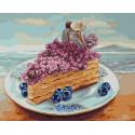 Черничный завтрак на побережье Раскраска картина по номерам на холсте ZX 23668
