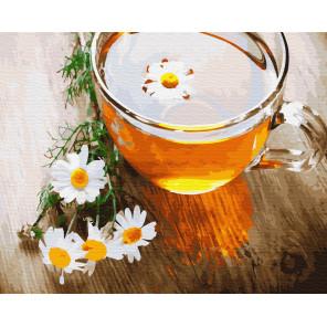 Ромашковый чай Раскраска картина по номерам на холсте ZX 23599