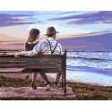 Свидание на пляже Раскраска картина по номерам на холсте ZX 23622