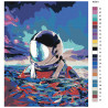Палитра используемых цветов Астронавт в море Раскраска картина по номерам на холсте AAAA-RS001