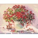 Котенок-цветовод Раскраска картина по номерам на холсте ZX 23609