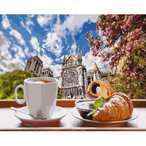 Завтрак во французском стиле Раскраска картина по номерам на холсте ZX 23804