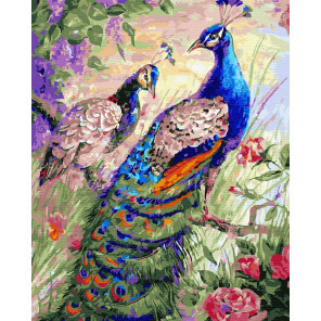 Синее пернатое великолепие Раскраска картина по номерам на холсте ZX 23597