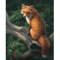 Рыжий хвост Раскраска картина по номерам на холсте ZX 23580