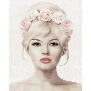 Цветочная Брижит Раскраска картина по номерам на холсте ZX 23965