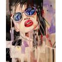 Хелена в абстракции Раскраска картина по номерам на холсте ZX 23896