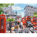 Солнце в Лондоне Раскраска картина по номерам на холсте ZX 23702