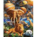 Космический ковчег Раскраска картина по номерам на холсте ZX 23777