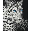 Черно-белый хищник Раскраска картина по номерам на холсте ZX 23601