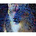 Призрачный гепард Раскраска картина по номерам на холсте ZX 23767