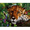 Пятнистый хищник на отдыхе Раскраска картина по номерам на холсте ZX 23701