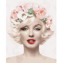 Цветочная Мерилин Раскраска картина по номерам на холсте ZX 23964