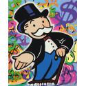 Монополия Раскраска картина по номерам на холсте с флуоресцентными красками AAAA-RS002-80x100