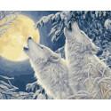 Воя на луну Раскраска картина по номерам на холсте ZX 23715