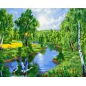 Журавли в лесу Раскраска картина по номерам на холсте ZX 23783