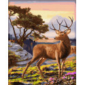 Золотой олень Раскраска картина по номерам на холсте ZX 23739