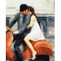 Пара на Веспе Раскраска картина по номерам на холсте ZX 23861